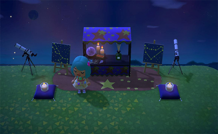 Psychic Stall with Stargazing - ACNH Idea