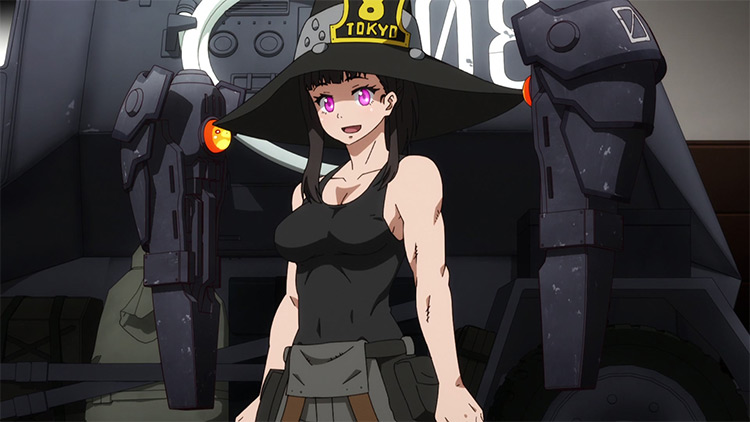 Maki Oze from Fire Force anime