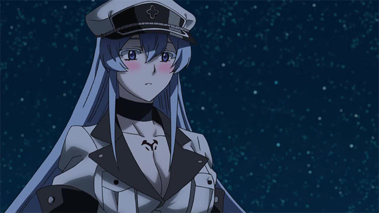 Esdeath from Akame ga kill anime