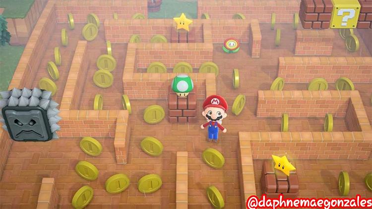 Mario-Themed Maze in ACNH