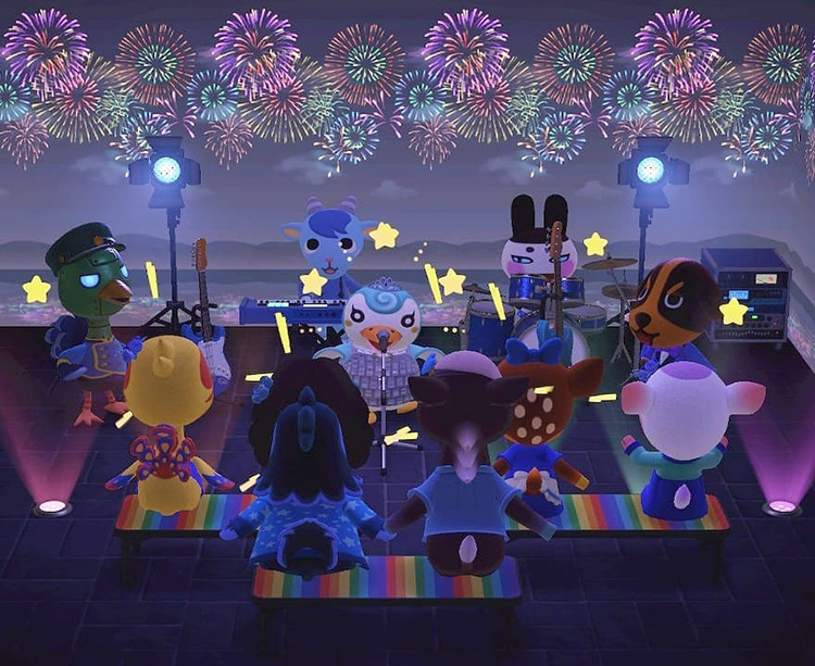Pop Concert Stage Idea in ACNH