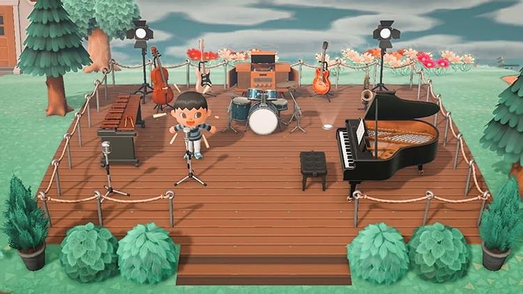 Plaza Music Studio Idea in ACNH