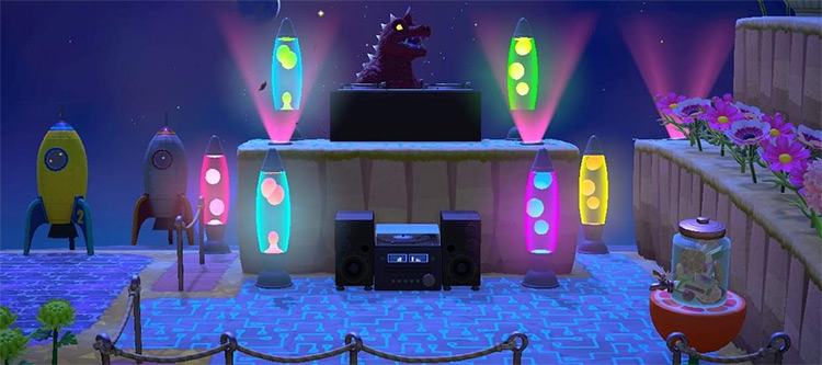 DJ Booth Stage Design - ACNH Idea