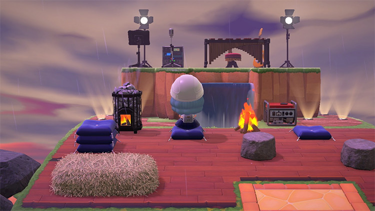 Lifted concert stage area in ACNH