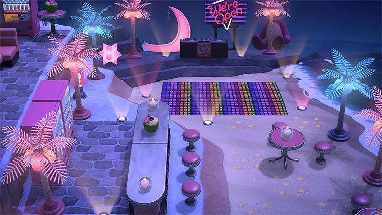 Beach Nightclub Concert Area - ACNH Idea