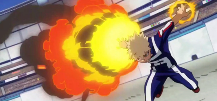 Bakugo Explosion Quirk Preview - BNHA