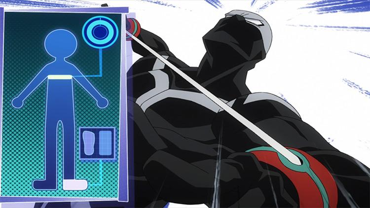 Doble: captura de pantalla del anime Twice My Hero Academia
