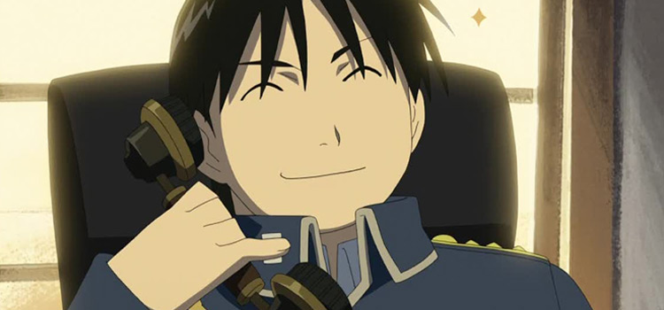Roy Mustang from FMA Smiling