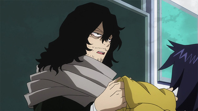 Shouta Aizawa in My Hero Academia anime