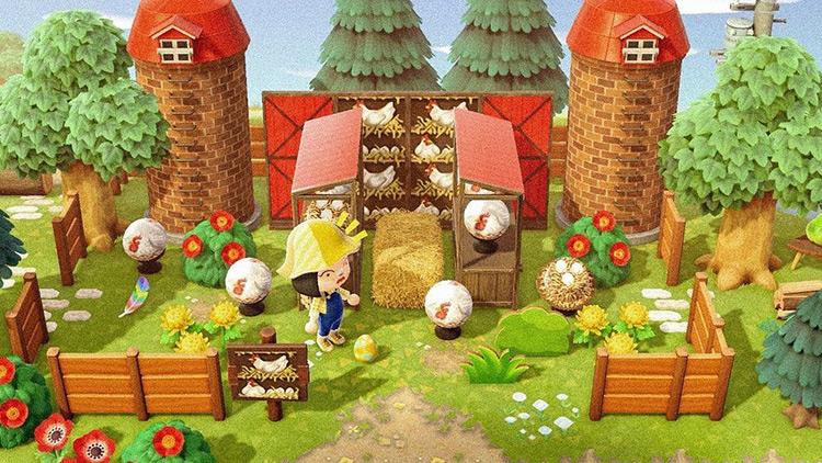 Chicken Coop Farm Area - ACNH Idea