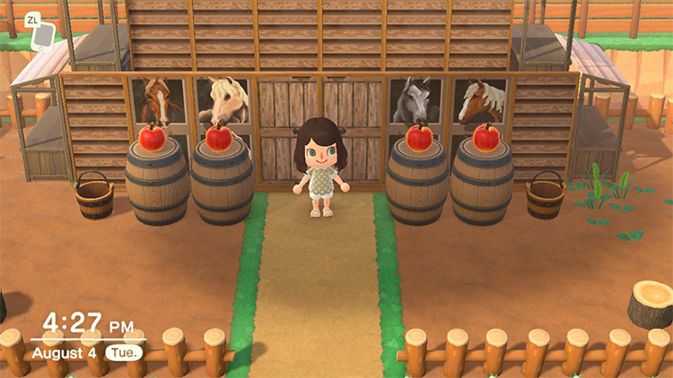 Horse Stable Idea in ACNH