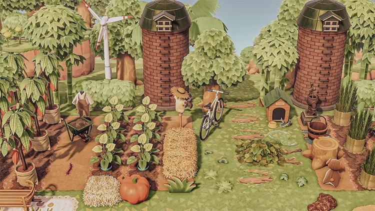 Japanese-style Rural Farmland Idea for ACNH