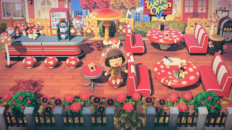 Mushroom-themed diner idea in ACNH