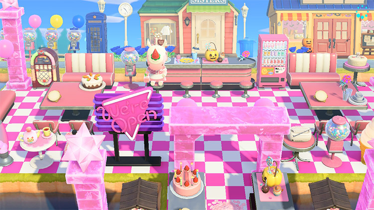 Sweets Shop and Diner - ACNH Idea