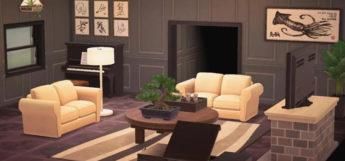 Bright Living Room Interior - ACNH