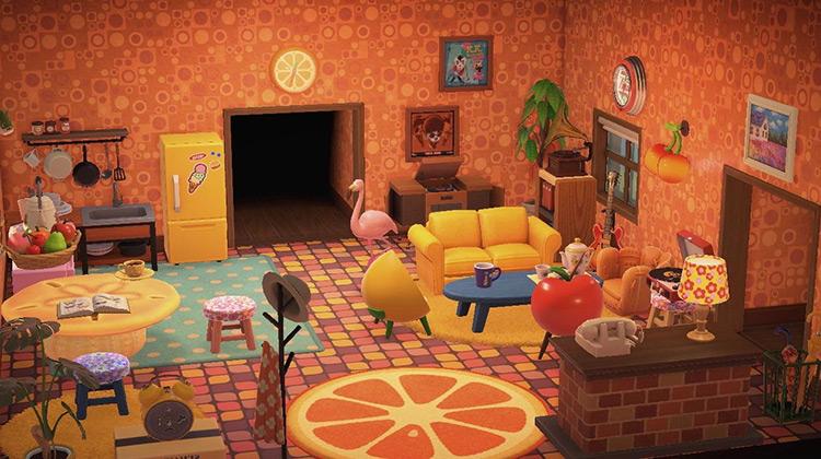 Fruit Furniture Living Room Idea - ACNH