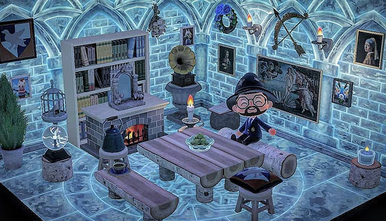 Ice Wizard Living Room - Acnh