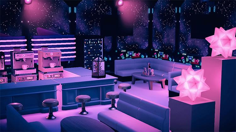 Club/lounge design idea - ACNH Living Room