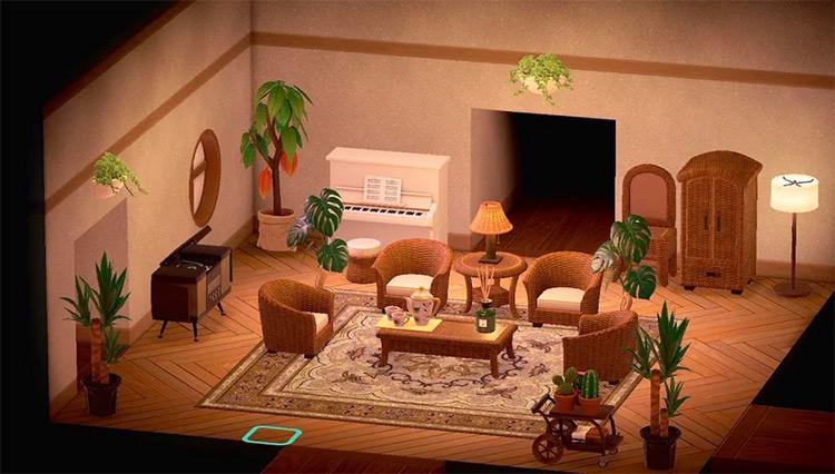 Rattan Living Room Decor - ACNH