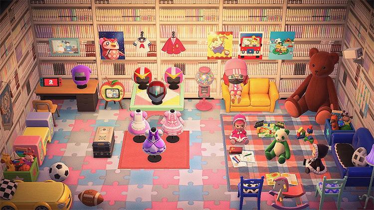 Anime Living Room Design - ACNH Idea