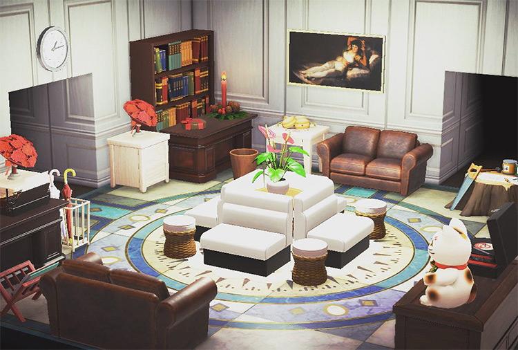 Hotel Lobby Living Room Idea - ACNH