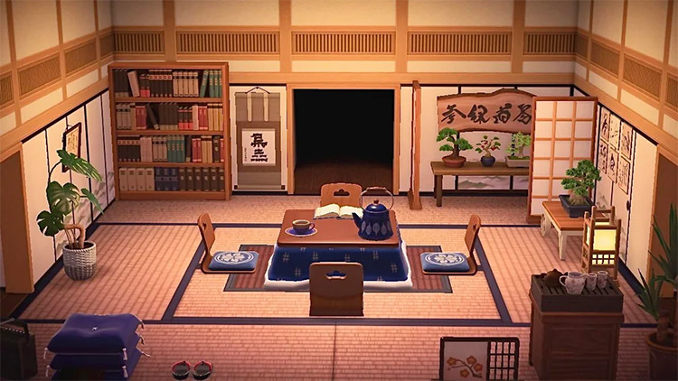 Japanese Living Room Area - ACNH
