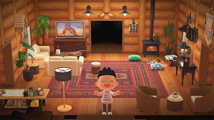 Mountain cabin living room idea - ACNH