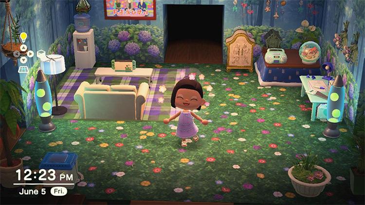 Fairy woods living room idea - ACNH