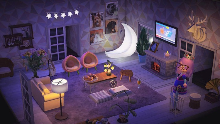 Dog lover living room idea - ACNH