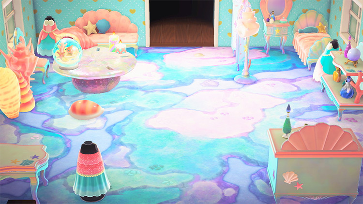 Mermaid Palace Living Room in ACNH
