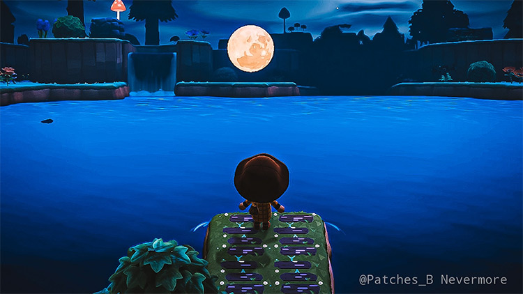 Moon lake design idea - ACNH