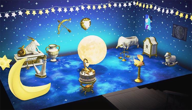 Moon-themed Room Idea - ACNH