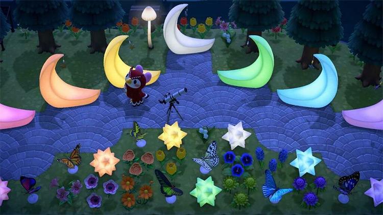 Rainbow Crescent Moons - ACNH Idea