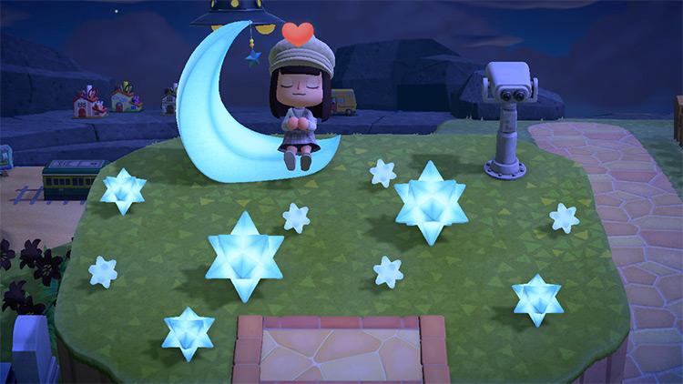 Moon-themed stargazing area - ACNH