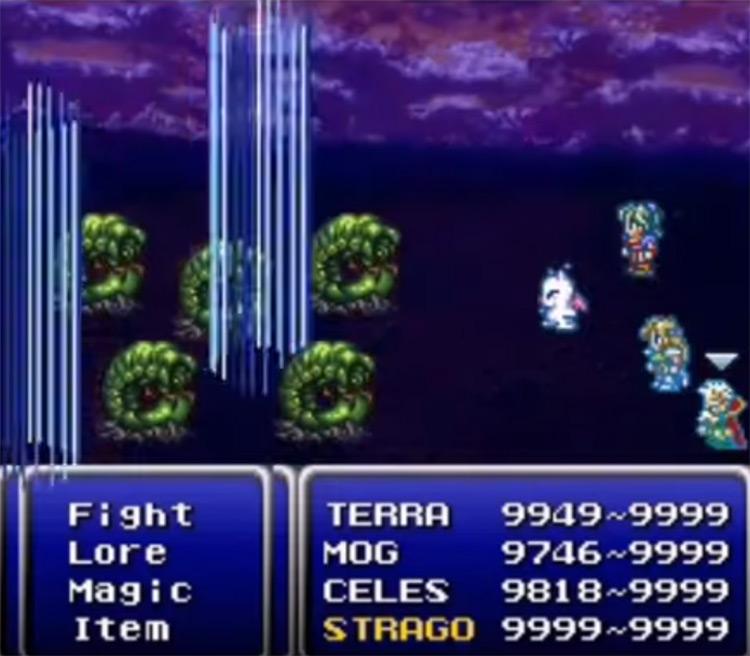 Wind Rhapsody Plasma Dance Ability - FF6 SNES Screenshot