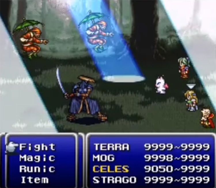Forest Nocturne Dance, Forest Healing Ability - FF6 SNES Screenshot