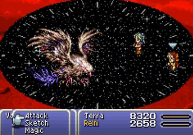 Meteor spell in FF6