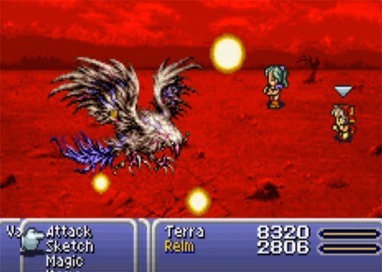 Flare spell in FF6