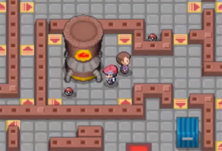 TM35 in Fuego Ironworks Pokemon Platinum