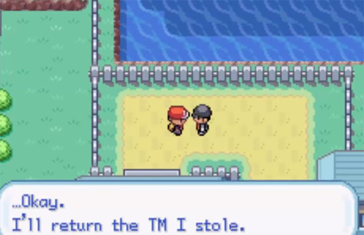 Cerulean City Rocket Member giving TM28 Dig - Pokemon FRLG