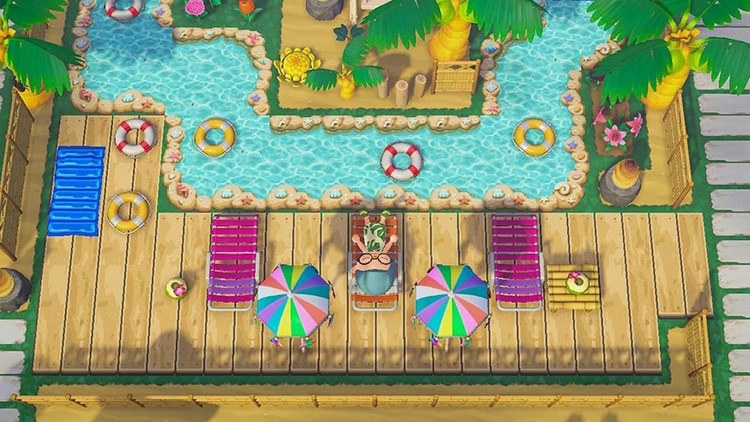 Tropical resort build in ACNH