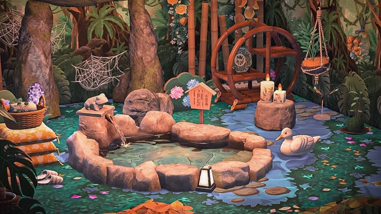 Hot springs in the forest - ACNH