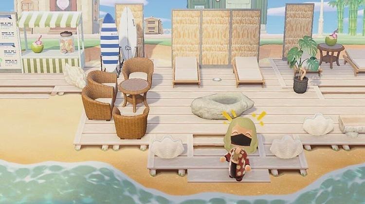 Seaside resort lounge idea - ACNH
