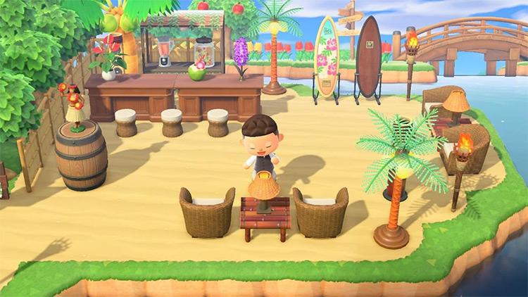 Customized Beach Bar Area - Acnh Idea