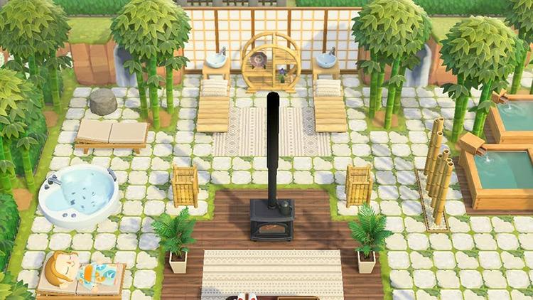 Bamboo Day Spa Idea In Acnh