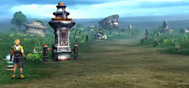 FFX HD Screenshot - Save Sphere on Mi'ihen Highroad