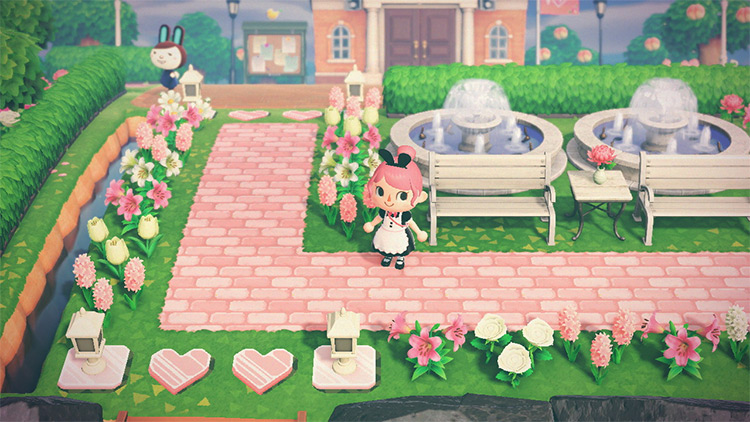Pretty Pink Town Square Area - ACNH