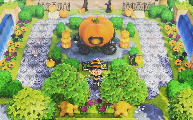 Holiday-Themed Plaza for Halloween - ACNH Idea