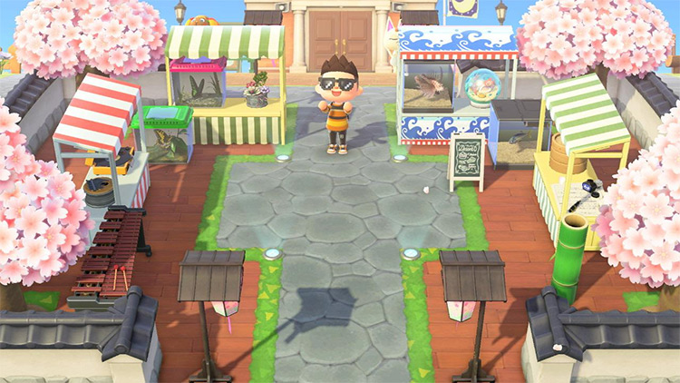 Marketplace near Resident Services - ACNH Idea