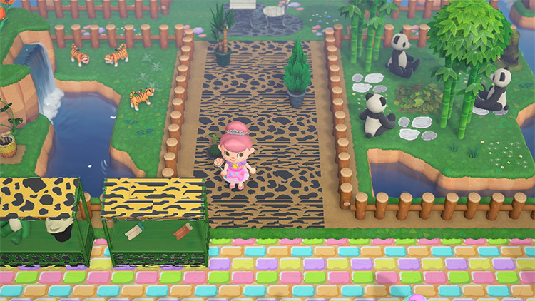 Custom Zoo with Tigers and Pandas - ACNH Idea